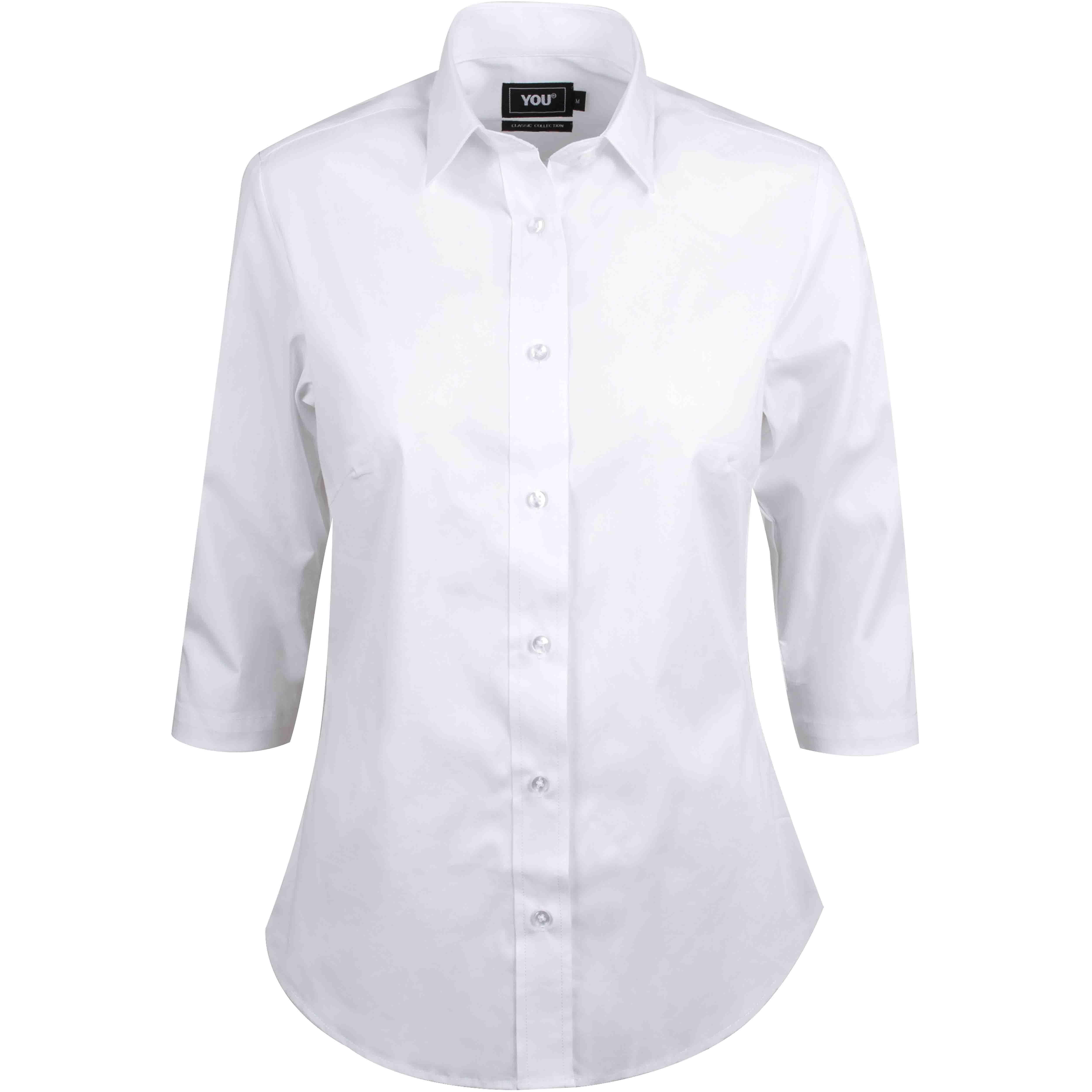 Skjorte model Andria 3/4 lange ærmer
